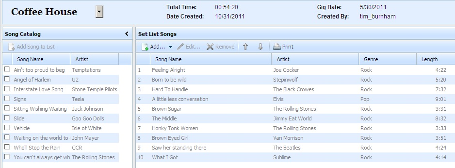 Manage songs in the Song Catalog